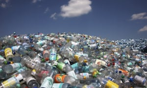 Plastic bottles. Theresa May has branded plastic waste an environmental scourge.