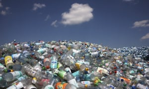 Pile of plastic bottles