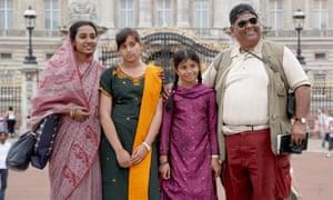 Brick Lane, with (from left) Tannishtha Chatterjee as Nazneen, Naeema Begum as Shahana, Lana Rahman as Bibi and Satish Kaushik as Chanu.