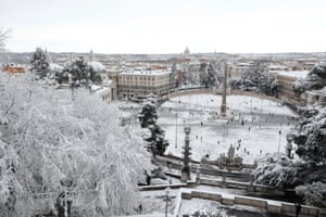 A view across Rome, with the Piazza del Popolo in the foreground.