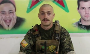 Oliver Hall in a photo issued by the YPG