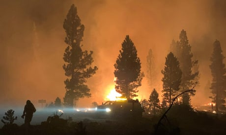 The Bootleg fire burns in Southern Oregon on 17 July.