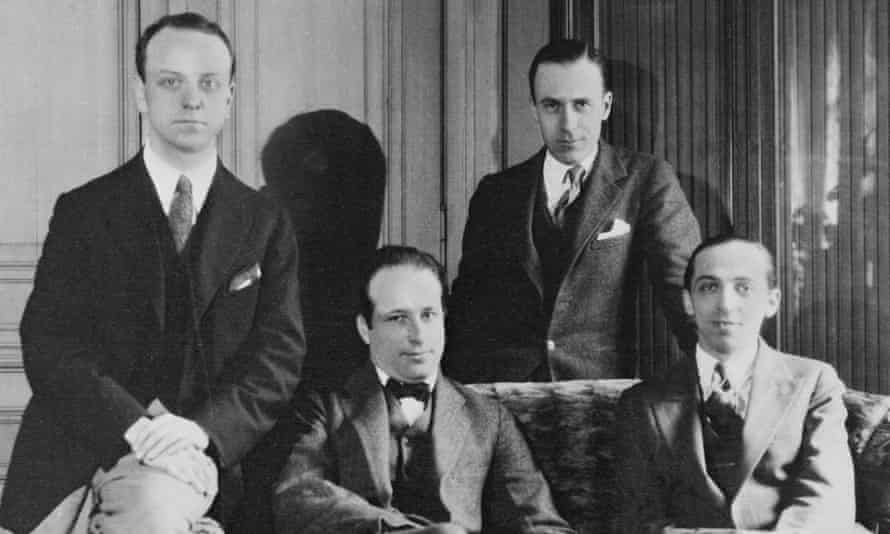 Young American composers pictured in Paris in 1926, from left, Virgil Thomson, Walter Piston, Herbert Ellwell and Aaron Copland.