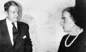 David Rockefeller with the Israeli prime minister Golda Meir in 1971.