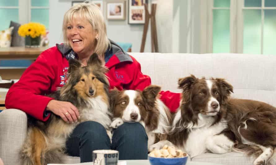 Jules O'Dwyer and her dogs on ITV's Lorraine show