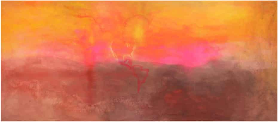 Frank Bowling's Texas Louise, 1971.