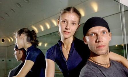 Johan Kobborg and Alina Cojocaru in rehearsal  in 2003