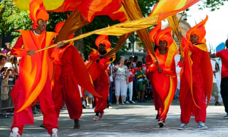 Dancers at Notting Hill Carnival, London, UK