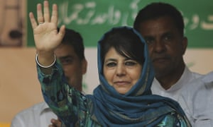 Mehbooba Mufti is the leader of the People's Democratic party in Kashmir.