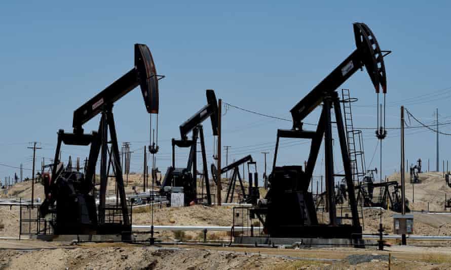 The Chevron section of the Kern River oilfield near Bakersfield, California