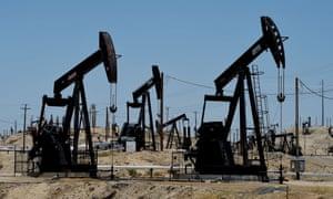 An oil field