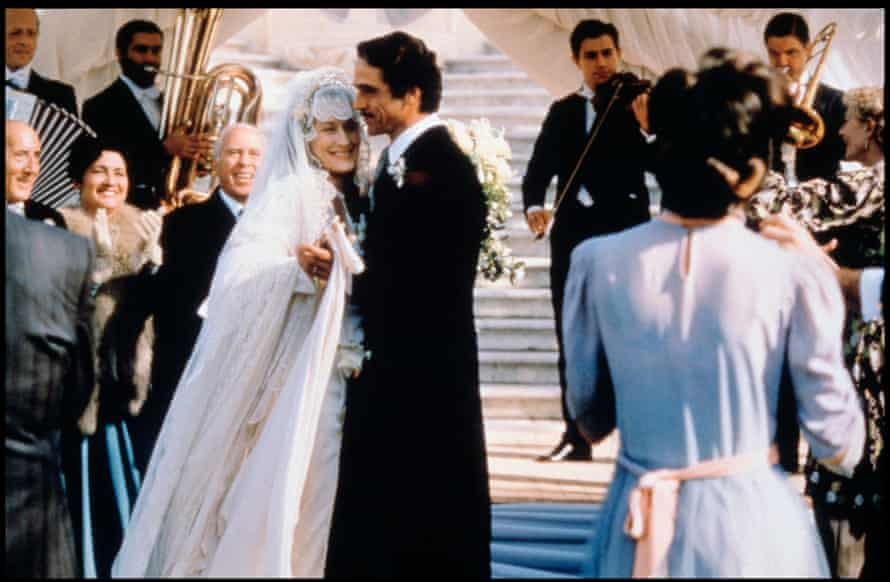 Meryl Streep and Jeremy Irons in the 1993 film adaptation of Isabel Allende's The House of the Spirits.