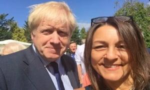 Boris Johnson and Linden Kemkaran