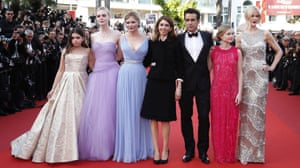 Addison Riecke, Elle Fanning, Kirsten Dunst, Sofia Coppola, Colin Farrell, Angourie Rice, Nicole KidmanActresses Addison Riecke, Elle Fanning, Kirsten Dunst, director Sofia Coppola, actors Colin Farrell, Angourie Rice and Nicole Kidman pose for photographers upon arrival at the screening of the film The Beguiled at the 70th international film festival, Cannes, southern France
