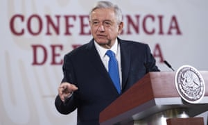 Andrés Manuel López Obrador during a press conference in Mexico City, Mexico, on 8 May.