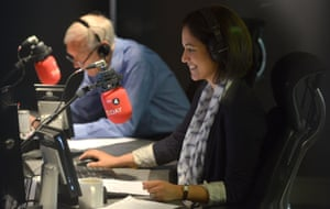 Mishal Husain presenting the Today programme with John Humphrys