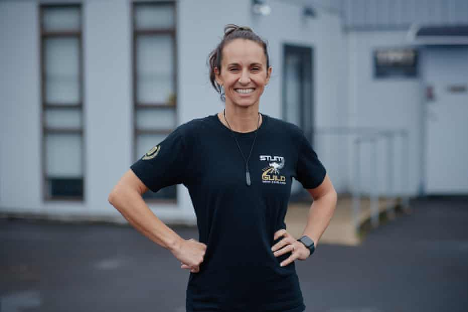 Dayna Grant, who runs NZ Stunt School and has worked on productions such as Zena Warrior Princess and Mad Max.