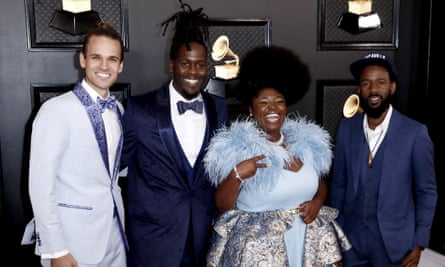 Tank and the Bangas at this year's Grammy awards.