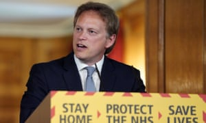 Grant Shapps giving the Downing Street press briefing on Saturday