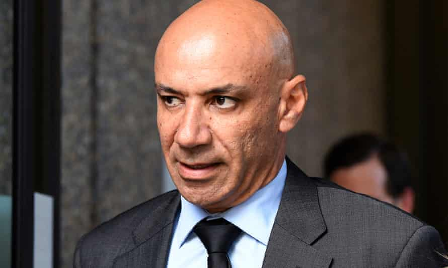 Moses Obeid leaves the NSW supreme court after a hearing in February