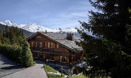 The ski chalet in Verbier, Switzerland, bought in 2014 by Prince Andrew and his former wife Sarah, Duchess of York.