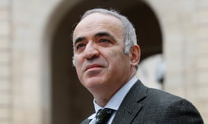 (FILES) This file photo taken on March 24, 2017 shows Russian former World Chess Champion Garry Kasparov posing in Paris. Former chess world champion Garry Kasparov is coming out of retirement to play in a US tournament next month, organisers announced on July 6, 2017. Kasparov, who dominated the game for more than 15 years, will compete against nine top players, including current world No. 1 Magnus Carlsen of Norway, at the Sinquefield Cup in St. Louis, Missouri, they said. / AFP PHOTO / Thomas SAMSONTHOMAS SAMSON/AFP/Getty Images