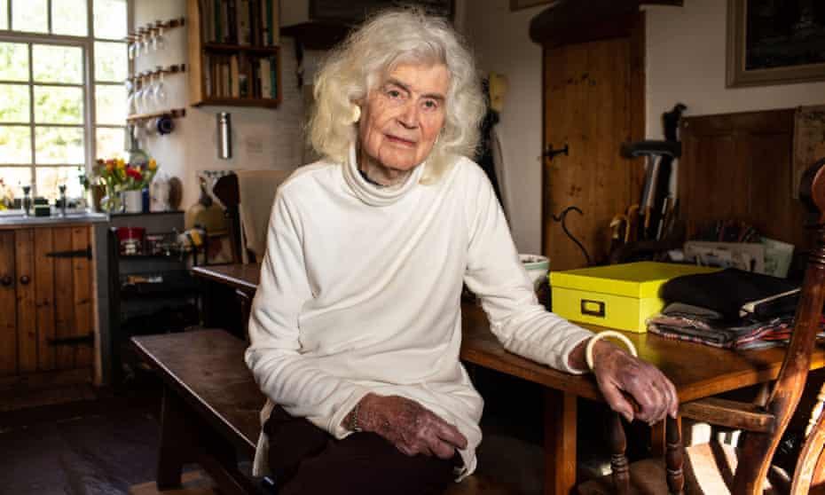 Jan Morris photographed at her home in Wales in early 2020.
