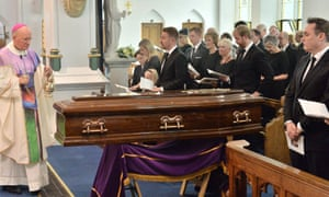 Cilla Black's funeral in St Mary's Church, Woolton, Liverpool