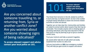 Police campaign to prevent radicalisation of young people