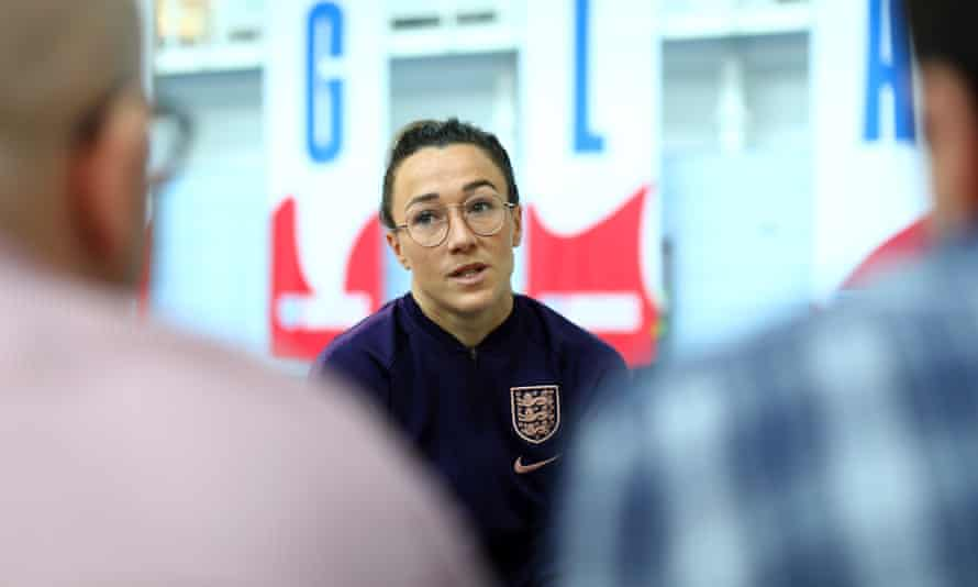 Lucy Bronze says: 'Everyone is used to the cameras, being in front of them – that's women's football now.'