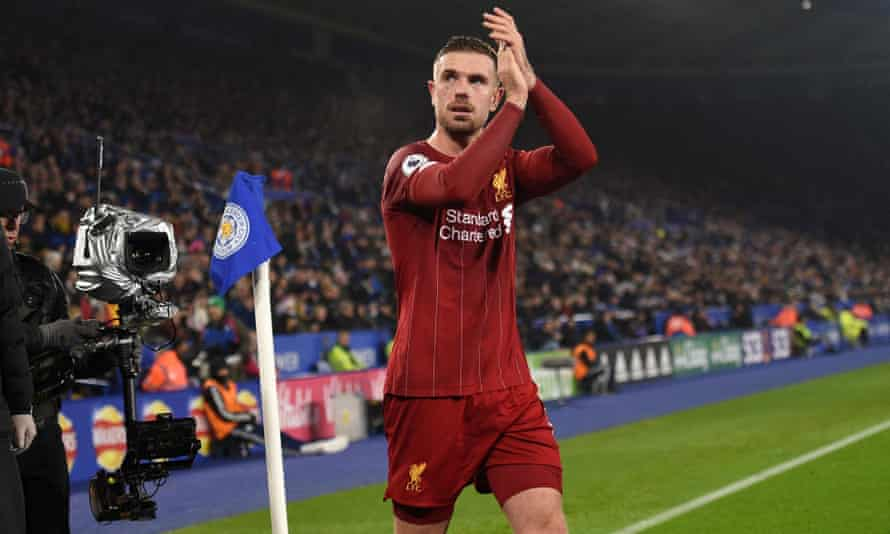 Jordan Henderson was successful with 10 long balls out of 11 attempted in Liverpool's 4-0 win at Leicester.