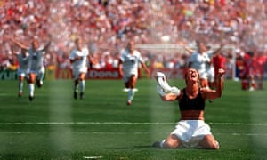 Brandi Chastain's celebration at the end of the 1999 World Cup final is one of the most famous images in women's football