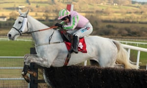 Baie Des Iles, ridden by Katie Walsh, jumps the last to win the Grand National Trial at Punchestown this season.