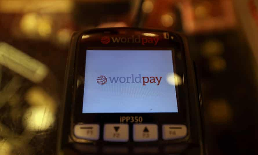 Worldpay logo displayed on a card payment machine