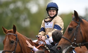 Hollie Doyle after winning the Champions Sprint Stakes on Glen Shiel.