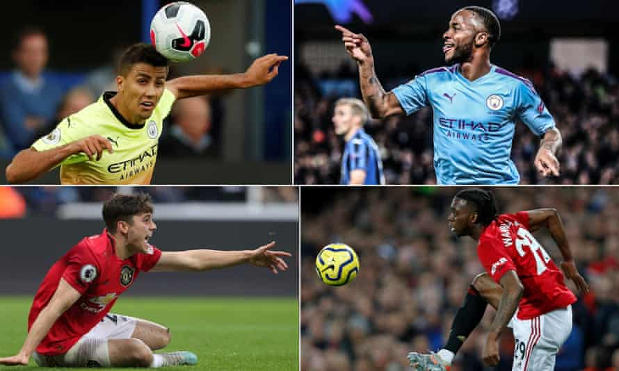 Manchester City's Rodri and Raheem Sterling have impressed so far this season as have Manchester United's new arrivals Daniel James and Aaron Wan-Bissaka.