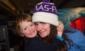 Sam with her four-year-old son.