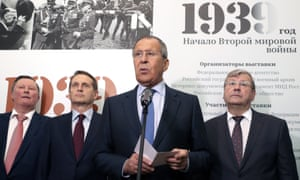 Sergei Lavrov speaks at the exhibition opening.