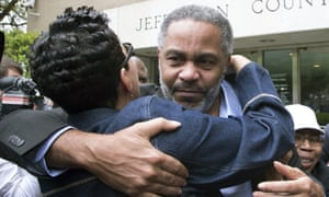 Anthony Ray Hinton leaves the Jefferson County jail in Birmingham, Alabama in April 2015, after nearly 30 years on death row.
