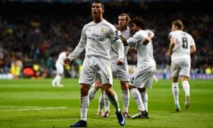 Cristiano Ronaldo celebrates.