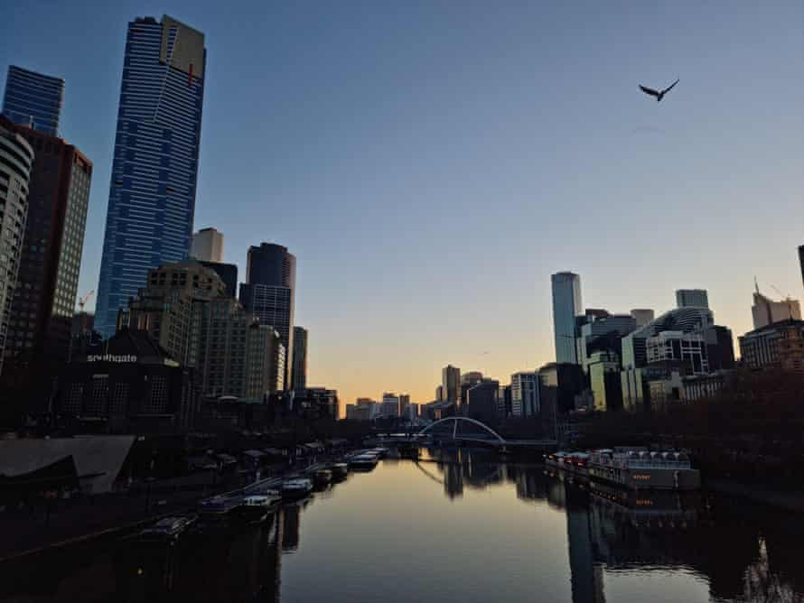 Images of Melbourne's Yarra River waterfront for the Rising audio work, The Rivers Sing.