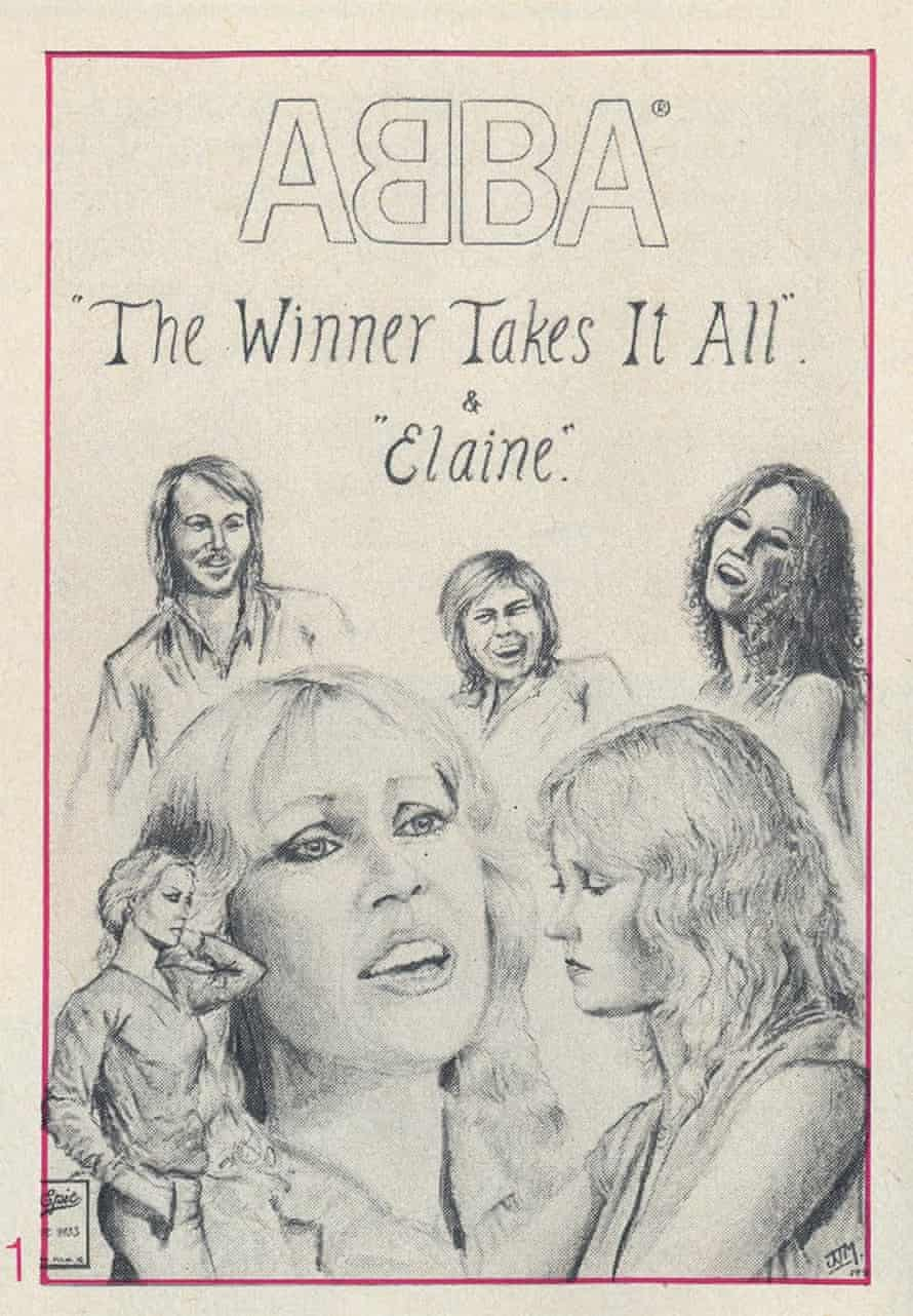 James Mayhew's first published illustration in the Abba magazine.