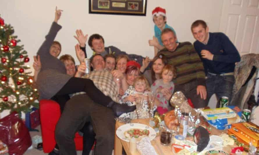Dawn Sturgess (sixth from left) with her family at Christmas in 2011.