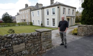 Dunstan Low in front of his house in Lancashire