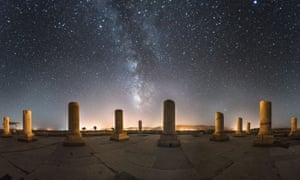 Private palace of Cyrus, pictured under the night sky
