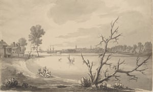 A view of Philadelphia in 1777 by the artist Archibald Robertson.