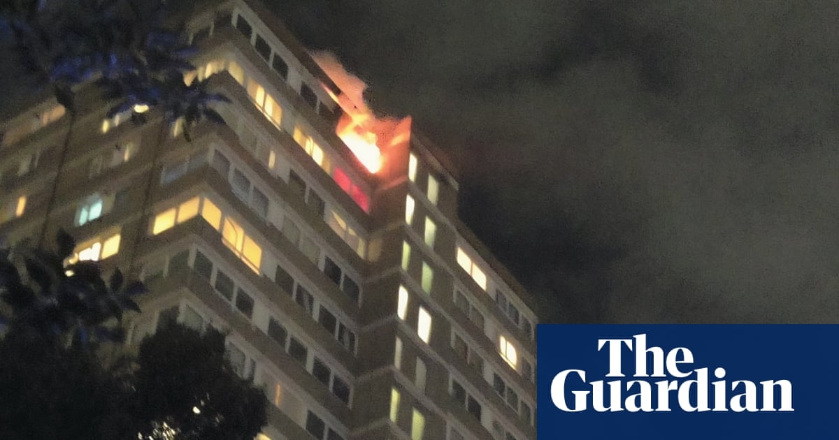 Fire breaks out at tower block in south-west London