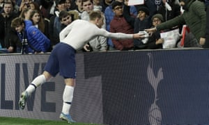 Christian Eriksen gave his shirt to a young Tottenham fan after playing the full 90 minutes against Middlesbrough in the FA Cup on Tuesday.