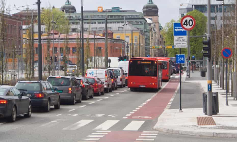 Downtown Oslo traffic