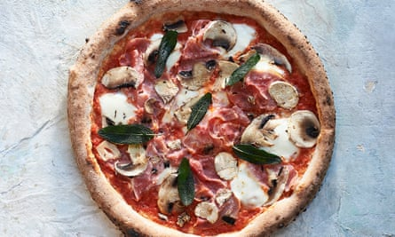 Smoked ham, mushroom and sage pizza from Stefano Manfredi's New Pizza